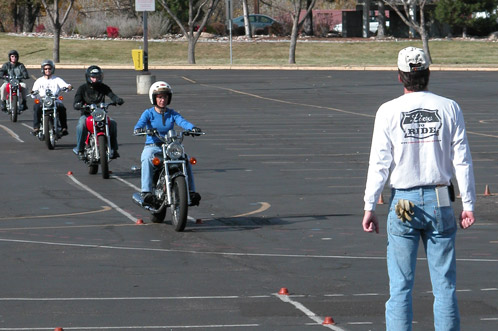 The Basic Rider Course in action.