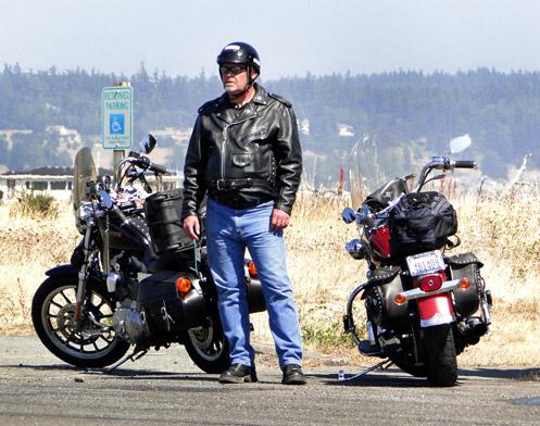 Biker in Washington state