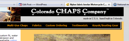 The Colorado Chaps website