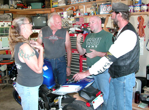 Deaf riders see no difference between themselves and other bikers