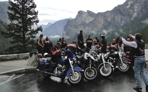 EagleRider media tour group at Yosemite
