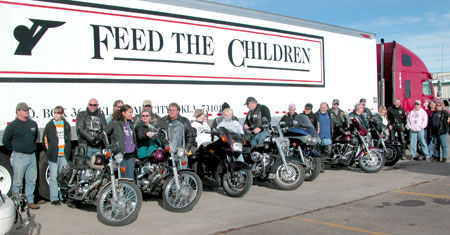 Feed the Children and bikers