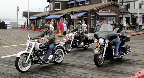 Harleys on the pier