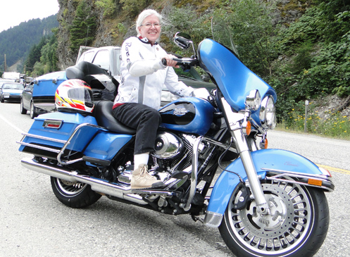 Judy on the Electra Glide Classic