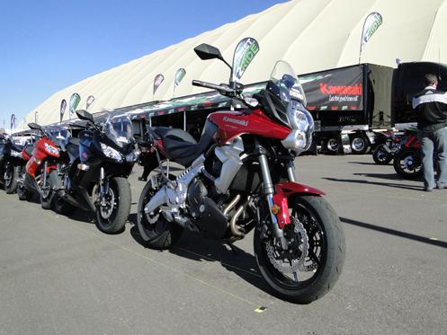 Kawasakis waiting for demo rides