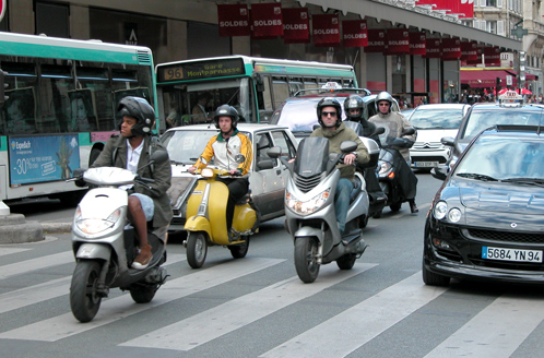 Lane-splitting in Paris