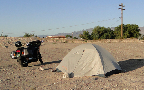 My campsite the first night in Laughlin