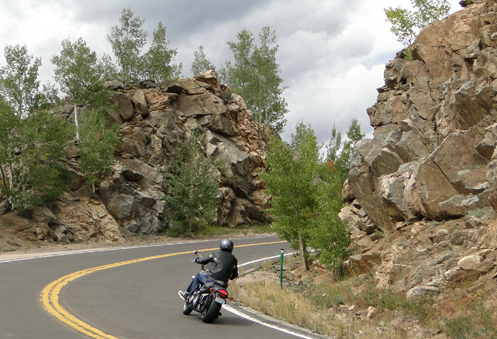 Motorcycle on Squaw Pass Road