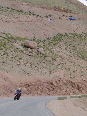 The road up Pikes Peak
