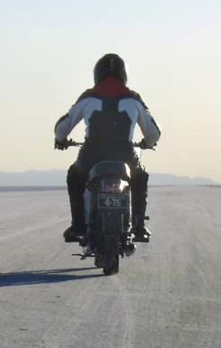 Jerry Pokorny at the Bonneville Salt Flats