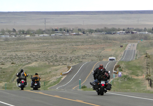 Riding motorcycles on the prairie