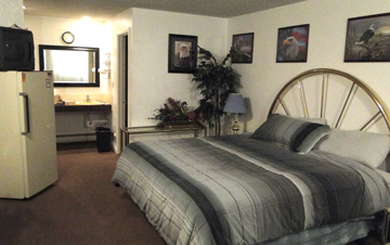 my room at the Sand and Sage Motel in Casper