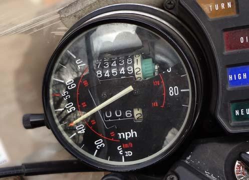 broken speedometer