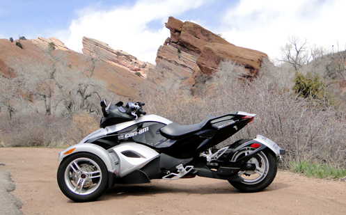 Can-Am Spyder at Red Rocks park