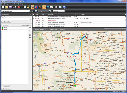 Microsoft Streets & Trips mapping software