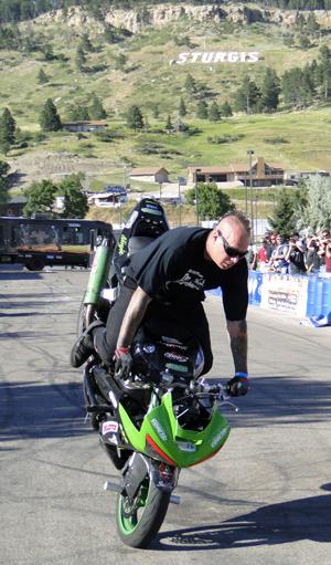 Stunt rider at Sturgis