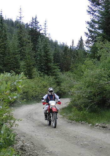 Dirt bike on Weston Pass
