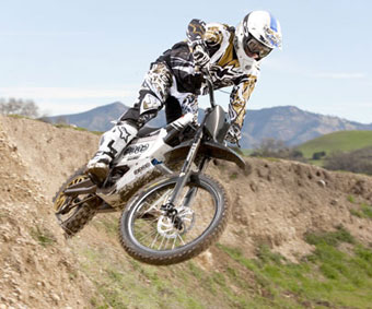 dirt bike in the air