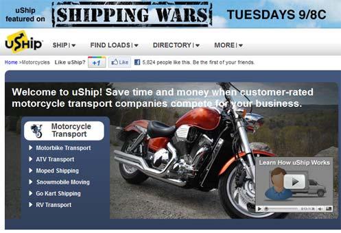 uShip.com ships motorcycles