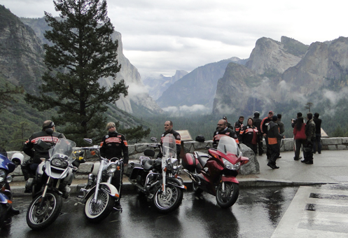 bikers at Yosemite