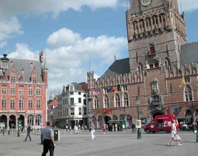 plaza in Bruges