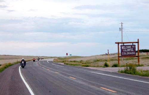 Entering Colorado from Wyoming on US 85