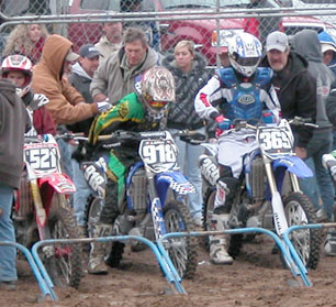 Motocross racers at the start