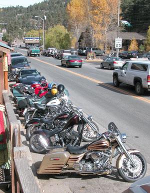 dedicated motorcycle parking